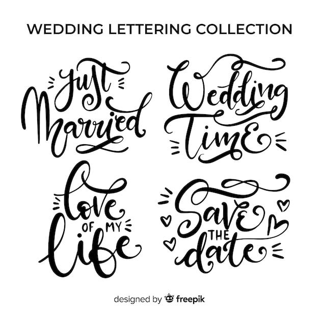 Coleção de letras de casamento Vetor grátis