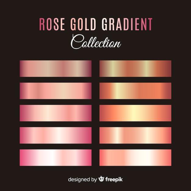 Coleção de listras gradientes metálicas Vetor grátis