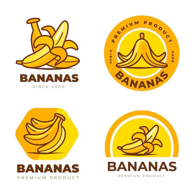 Coleção de logo banana Vetor Premium