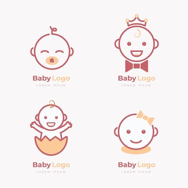 Coleção de logo de bebê Vetor grátis