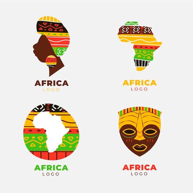 Coleção de logotipo da áfrica Vetor grátis