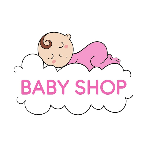 Coleção de logotipo da loja de bebês Vetor grátis