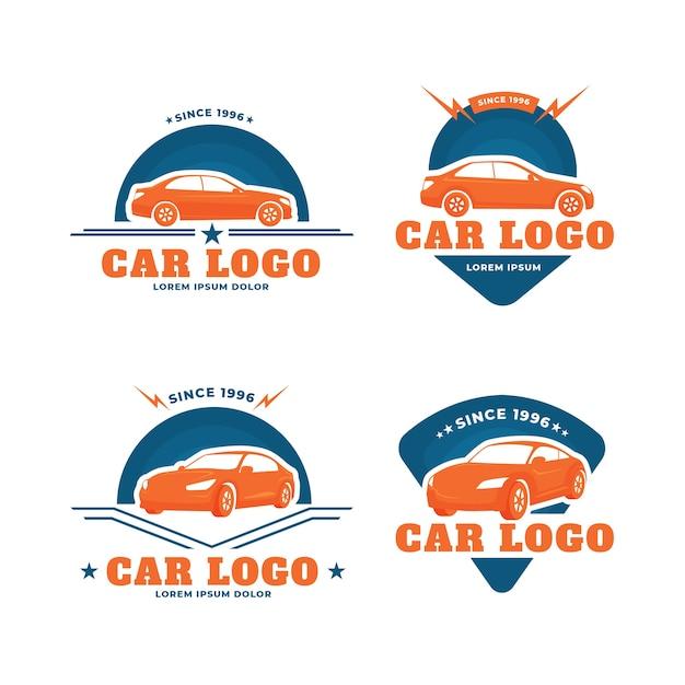 Coleção de logotipo de carro design plano Vetor grátis