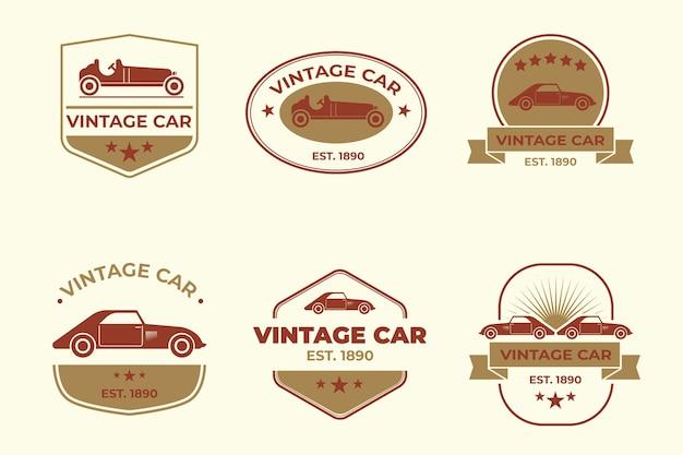 Coleção de logotipo de carros antigos Vetor grátis