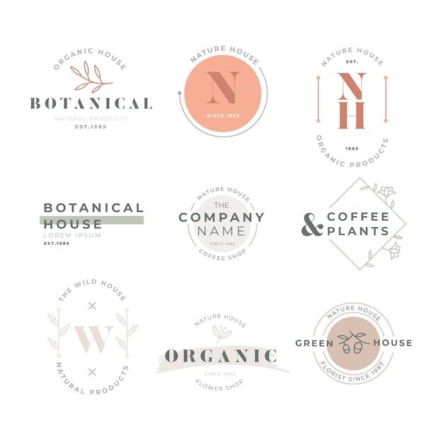 Coleção de logotipo de negócios em estilo retro Vetor grátis