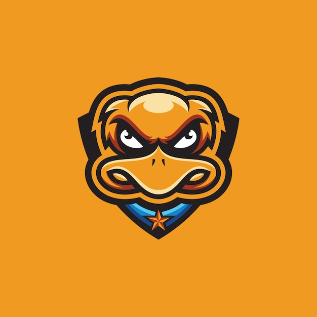 Coleção de logotipo de pato Vetor Premium