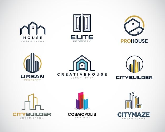 Coleção de logotipo de propriedade Vetor Premium