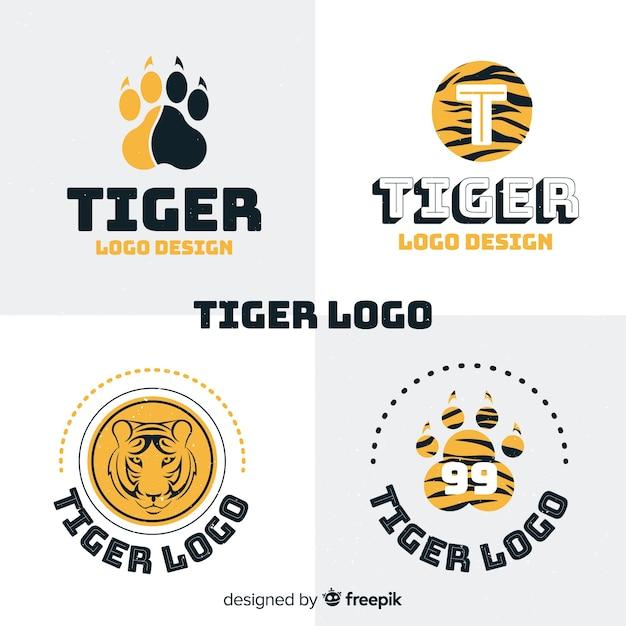 Coleção de logotipo de tigre Vetor grátis
