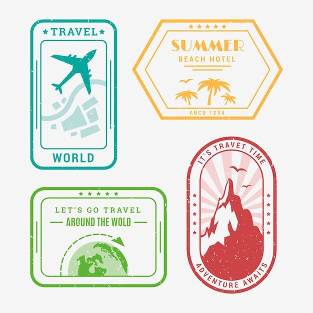 Coleção de logotipo de viagem Vetor grátis