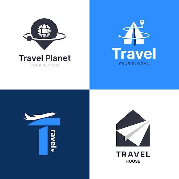 Coleção de logotipo de viagens Vetor grátis