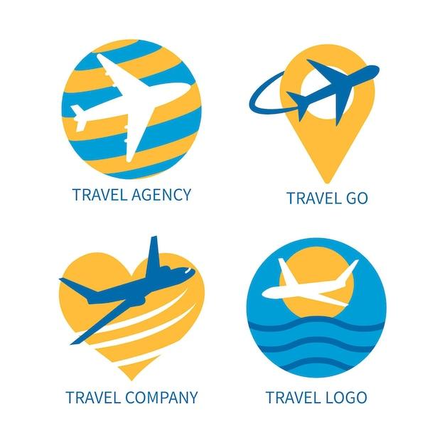 Coleção de logotipo de viagens Vetor Premium