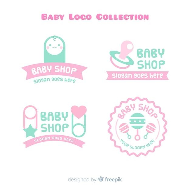 Coleção de logotipo do bebê Vetor grátis