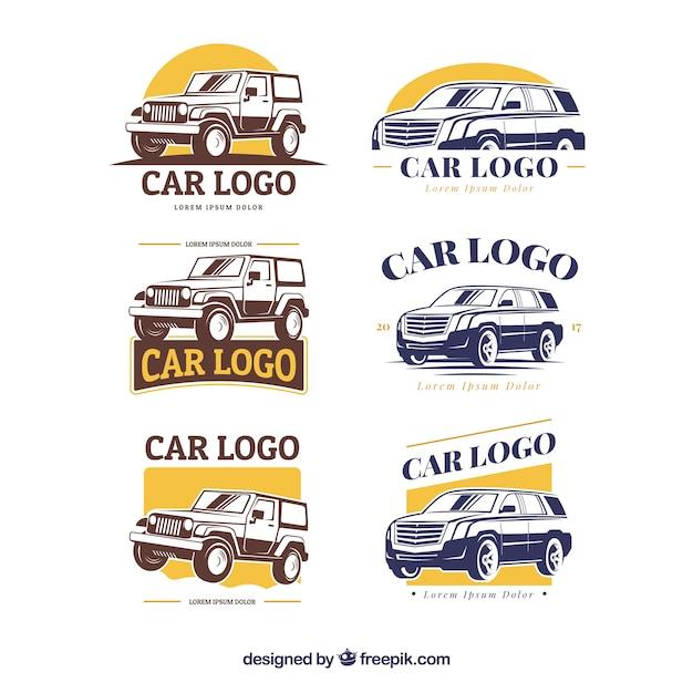 Coleção de logotipo do carro grande Vetor grátis