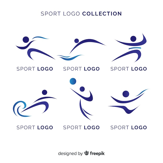 Coleção de logotipo esporte moderno Vetor Premium