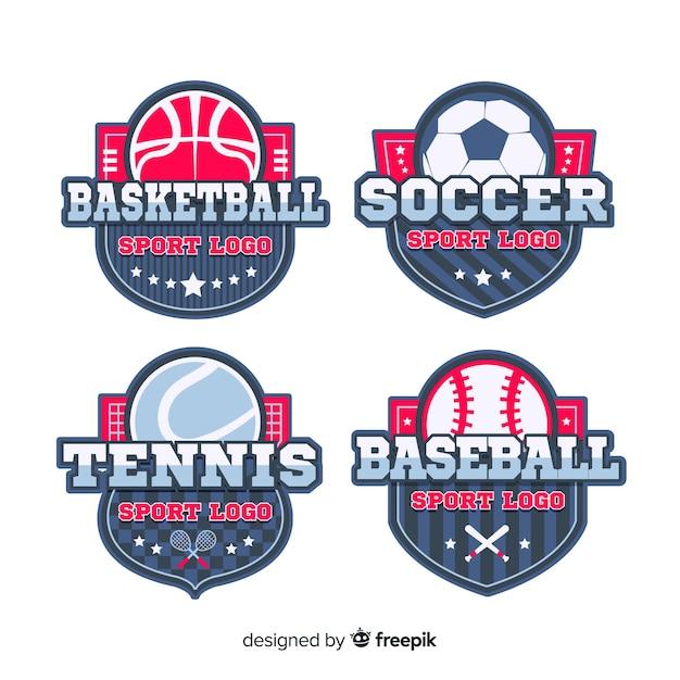 Coleção de logotipo esporte moderno Vetor grátis