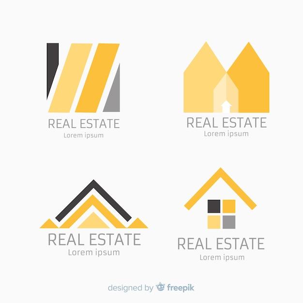 Coleção de logotipo imobiliário elegante Vetor grátis