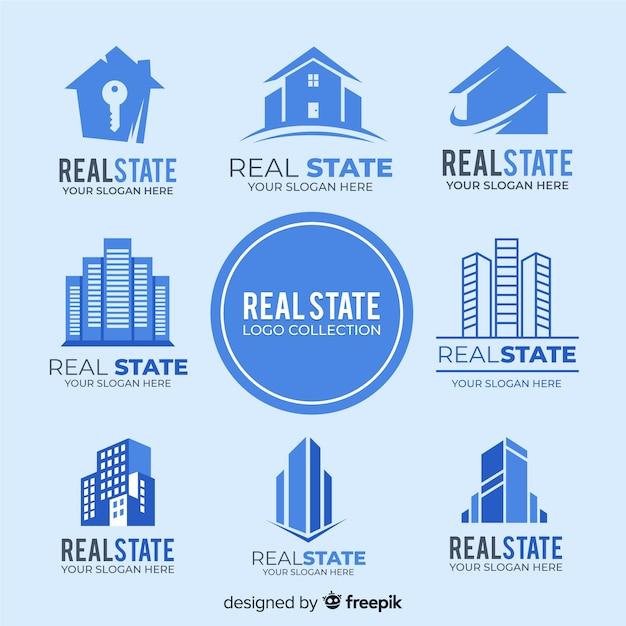 Coleção de logotipo imobiliário moderno Vetor grátis
