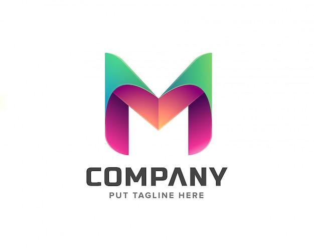 Coleção de logotipo inicial criativa letra m Vetor Premium