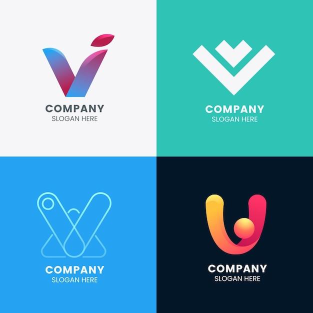 Coleção de logotipo v Vetor grátis