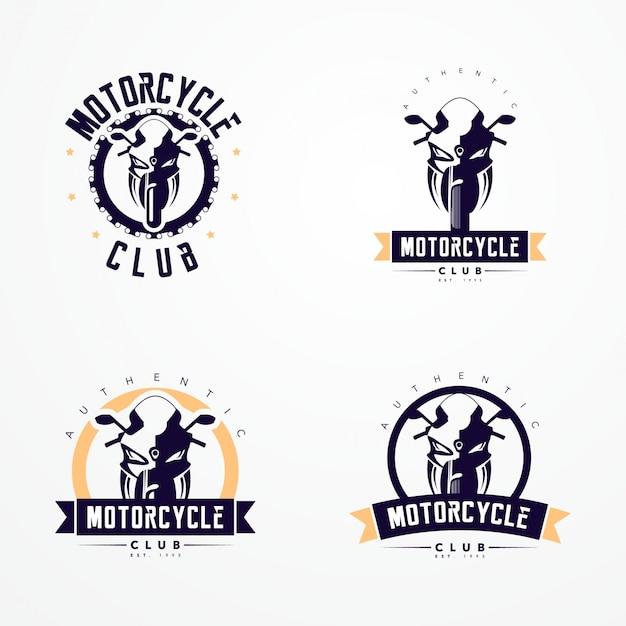 Coleção de logotipos de emblemas de motocicleta Vetor grátis