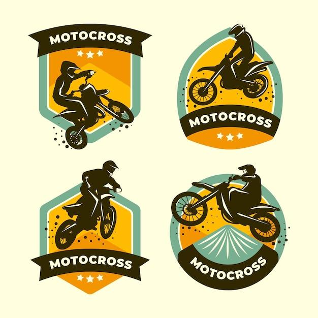 Coleção de logotipos de motocross Vetor grátis