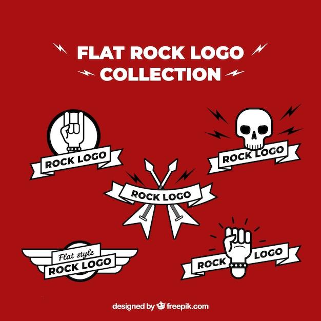 Coleção de logotipos de rock em estilo simples Vetor grátis