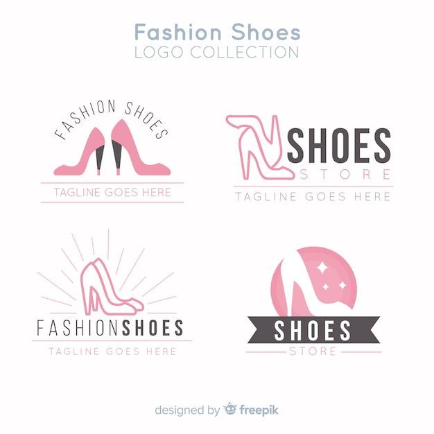 Coleção de logotipos de sapato de moda Vetor grátis