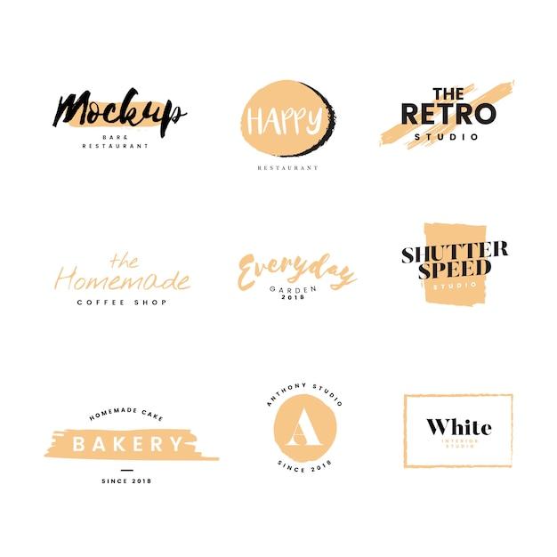 Coleção de logotipos e branding vector Vetor grátis