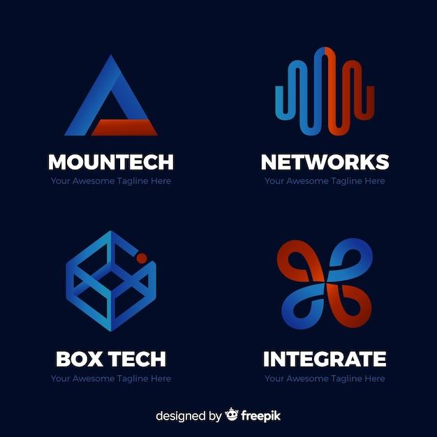 Coleção de logotipos Vetor grátis