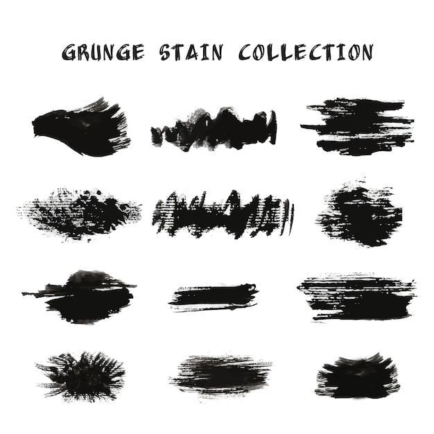 Coleção de mancha de grunge Vetor grátis