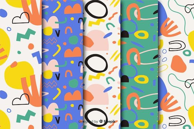 Coleção de mão desenhada padrão abstrato Vetor grátis