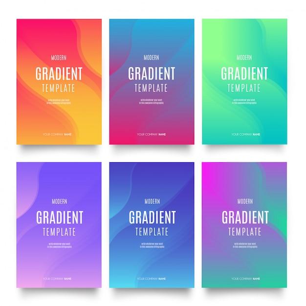 Coleção de modelo de gradiente Vetor grátis