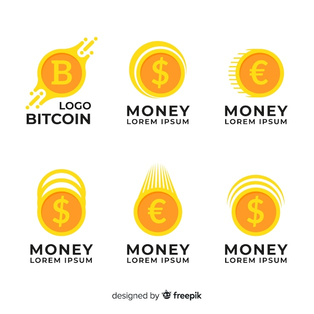 Coleção de modelo de logotipo de conceito de dinheiro Vetor grátis