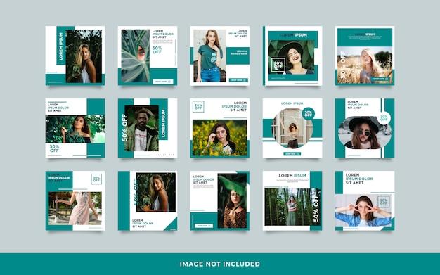 Coleção de modelo de postagem de mídia social Vetor Premium