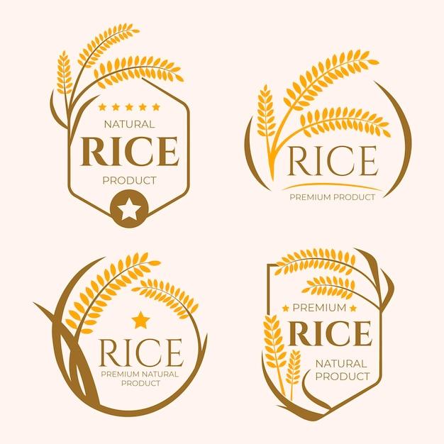 Coleção de modelos de logotipo de negócios de grãos Vetor Premium