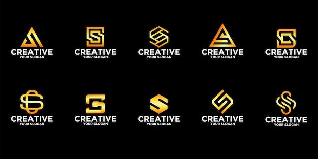 Coleção de modelos de logotipo s letter Vetor Premium