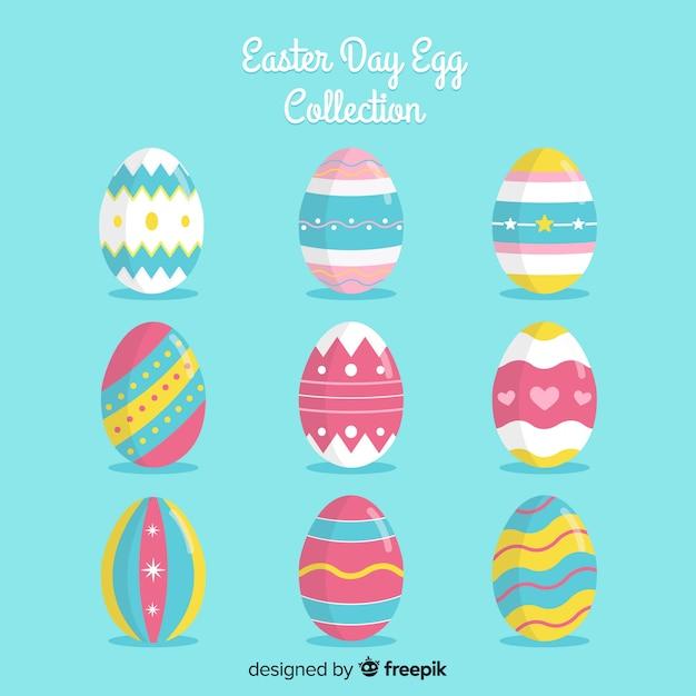 Coleção de ovos de páscoa dia Vetor grátis