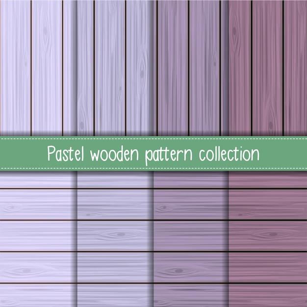 Coleção de padrão de madeira sem costura lavanda chique gasto Vetor Premium