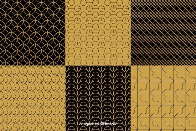 Coleção de padrão geométrico de luxo Vetor grátis