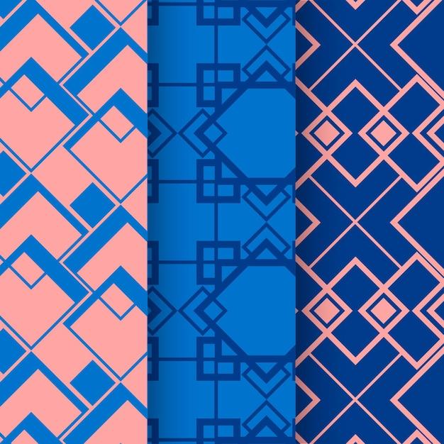 Coleção de padrão geométrico mínimo Vetor grátis