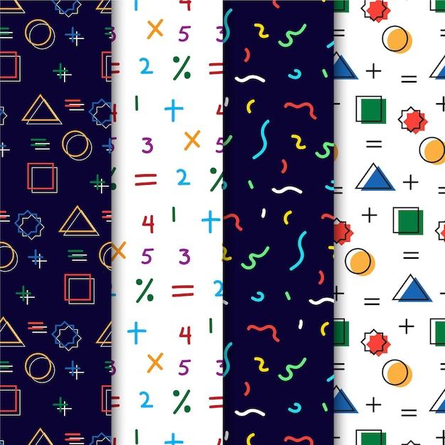 Coleção de padrões de memphis Vetor grátis