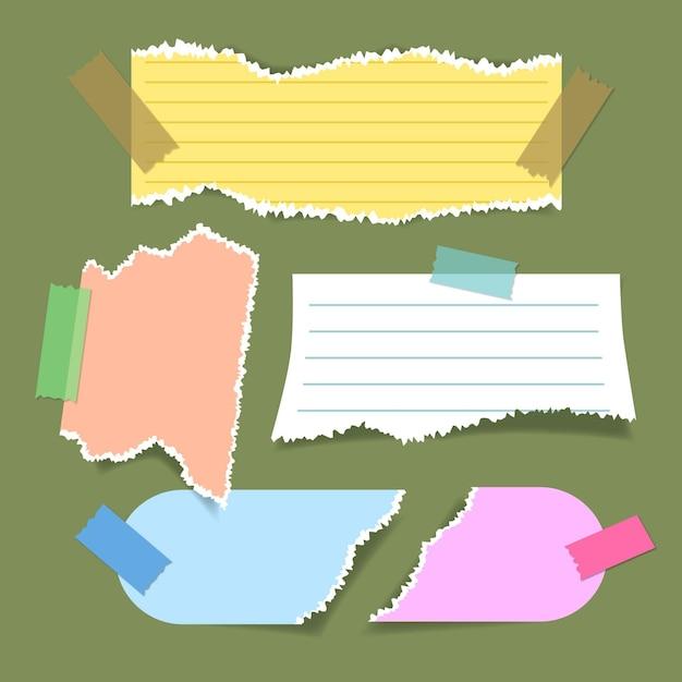 Coleção de papel rasgado Vetor grátis