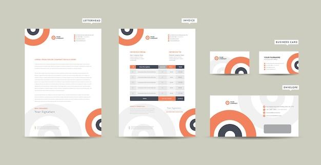 Coleção de papelaria empresarial moderna Vetor Premium