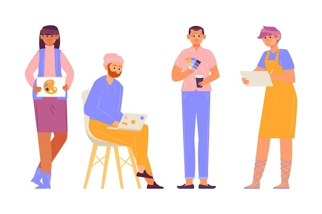 Coleção de pessoas de design Vetor grátis