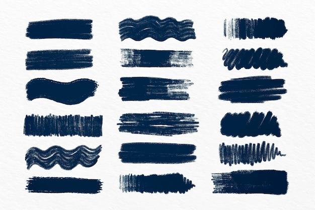 Coleção de pinceladas de tinta Vetor grátis