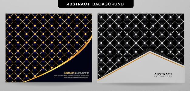 Coleção de plano de fundo padrão vip elegante com diamantes brilhantes Vetor Premium