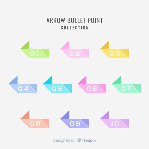 Coleção de ponto de bala Vetor grátis