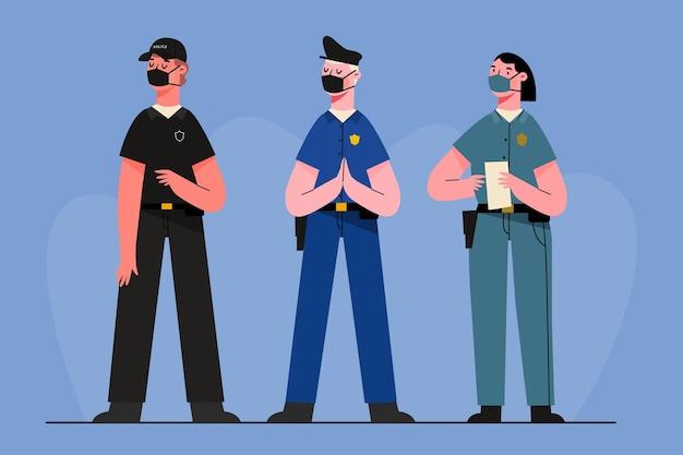 Coleção de profissão policial Vetor grátis