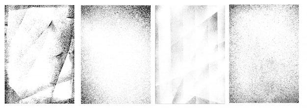 Coleção de quadros brancos grunge retrô Vetor grátis