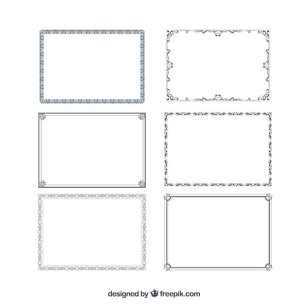 Coleção de quadros de certificados Vetor grátis